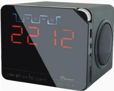 Super-IT Ducasso Black Boy Rechargeable with USB, MMC ,Alarm Clock ,Aux & FM Radio Boom Box(Black)