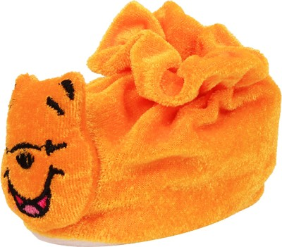 Ole Baby Winnie the pooh Soft Velvet Furry Friend Smiling Cartoon Booties