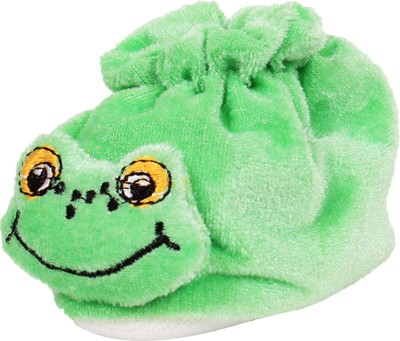Ole Baby Smart Froggy Soft Velvet Furry Friend Smiling Cartoon Booties