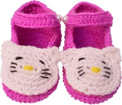 Graykart Dark Pink Knitted wool shoes / Baby booties /Pre walker Booties