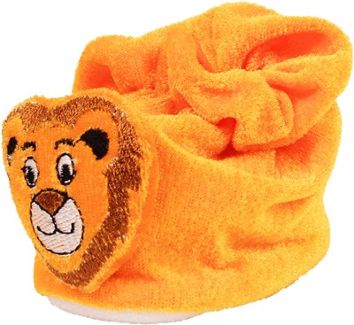 Ole Baby Heroic Lion Soft Velvet Furry Friend Smiling Cartoon Booties