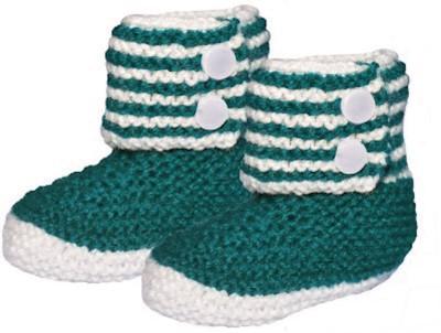 MFJ BlueGreen Baby Booties