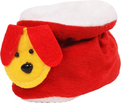 Ole Baby Dog Soft Velvet Furry Friend Smiling Cartoon Booties