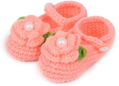 Pikaboo Peach Crochet Baby booties Booties