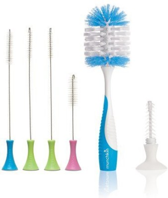 Munchkin Cleaning Brush Set With Deluxe Bottle Brush