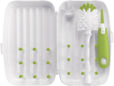 OXO Tot On The Go Drying Rack And Bottle Brush(Green)