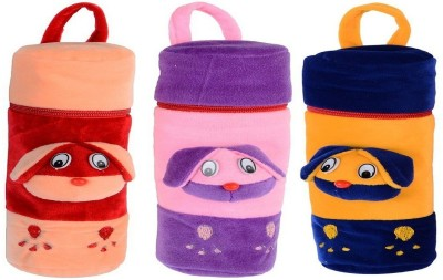 CHHOTE JANAB BABY FANCY BOTTLE COVER (SET OF 3)(Multicolor)