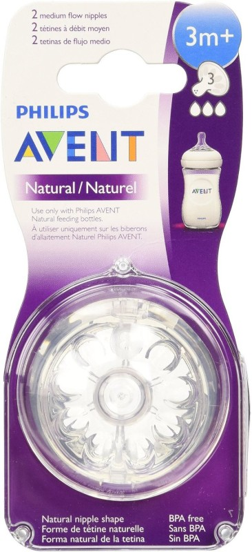 Philips Avent BPA Free Natural Medium Flow Nipples Medium Flow Nipple(Pack of 1 Nipple)