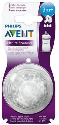 Philips Avent Natural Nipple Medium Flow Nipple(Pack of 4 Nipples)