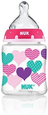 NUK Hearts and Elephants Baby Bottle Medium Flow Nipple