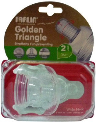 Farlin Stretchy Anti Colic Teat M Wide-Neck Slow Flow Nipple