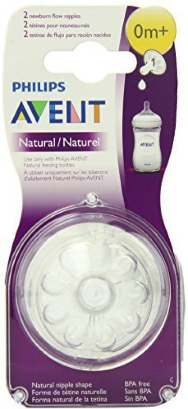 Philips Avent BPA Free Natural Newborn Flow Nipples Medium Flow Nipple(Pack of 2 Nipples)