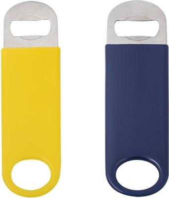 Mosaic 1BRW-BTO-CVNL-BUYLS2 Vinyl Coated Blue Yellow Bottle Opener Set