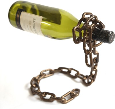 Inspired Living Chain Iron Bottle Rack Cellar