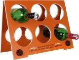 Ek Do Dhai Wooden Wine Rack (Orange, 6 B...