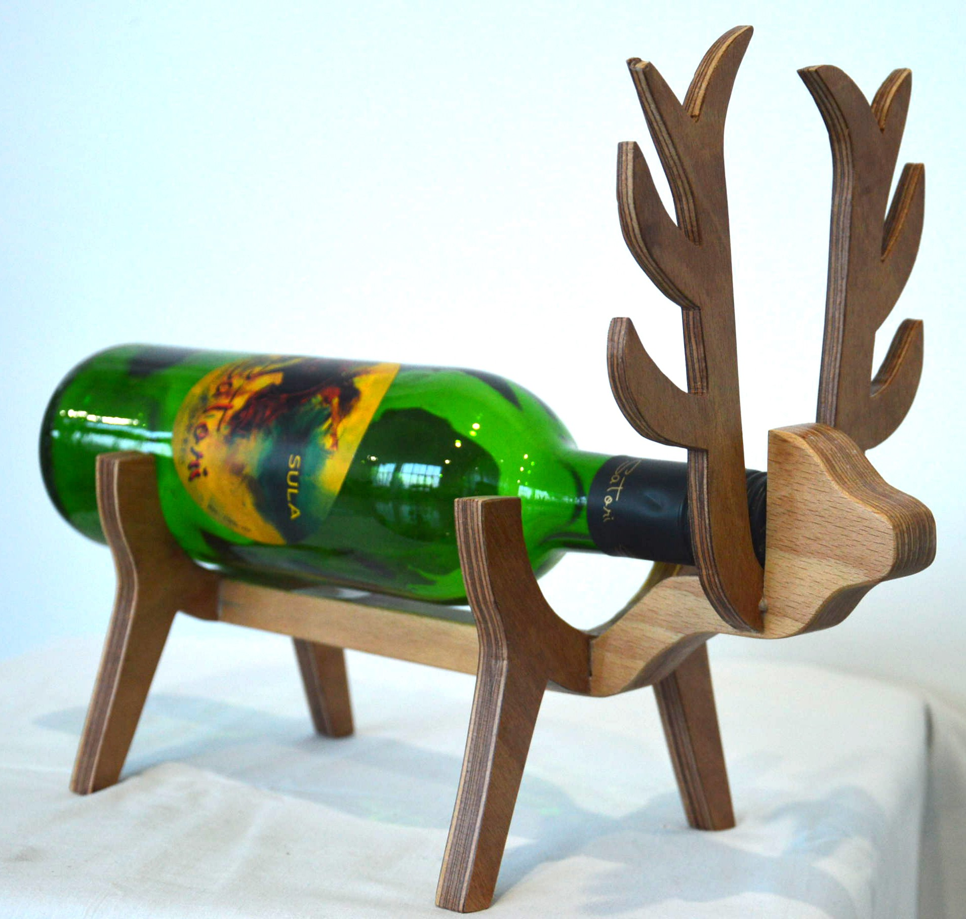 View Kreatish Wooden Wine Rack(Brown, 1 Bottle) Price Online(Kreatish)
