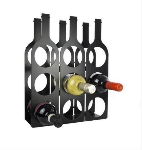 View Infra Engineering Steel Wine Rack(Black, White, Red, Blue, Grey, 9 Bottles) Furniture (Infra Engineering)