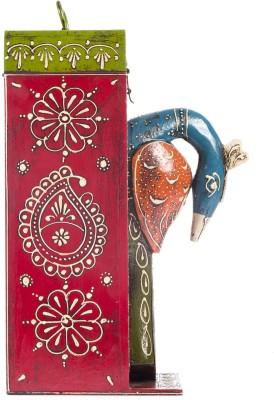 Smile2u Retailers Rajasthani Peacock Shape Wooden Bottle Rack Cabinet