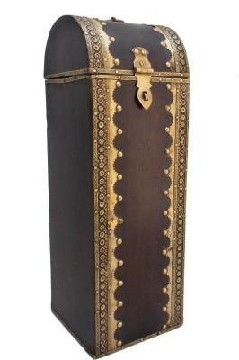 Indune Lifestyle Wooden Box (Single) Wooden, Brass Bottle Rack Cellar