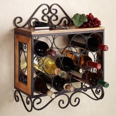 Onlineshoppee Wooden Bottle Rack Cellar