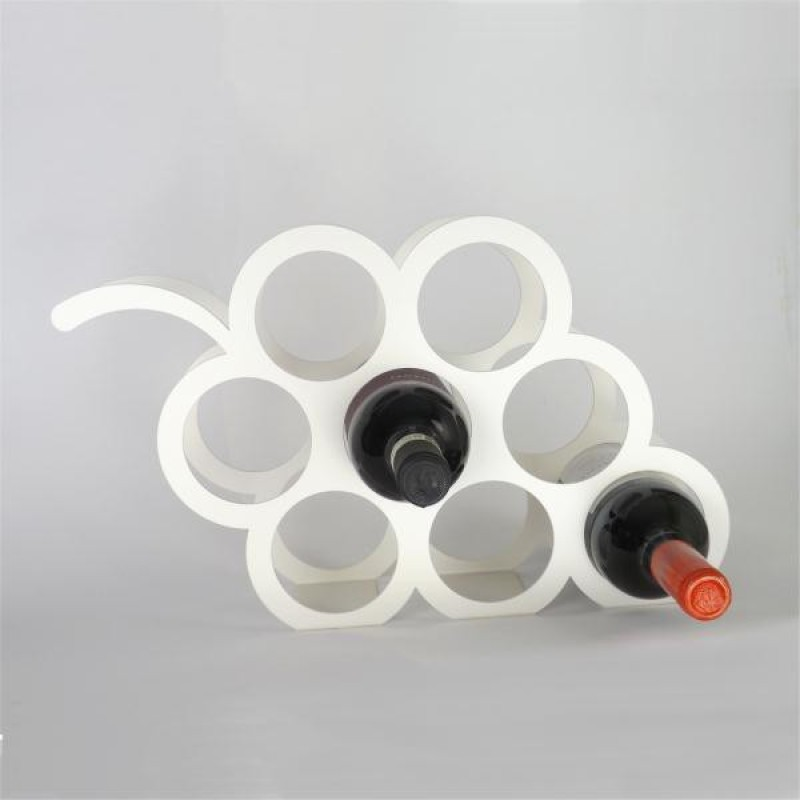 Indian Decor Steel Wine Rack(White, 8 Bottles)