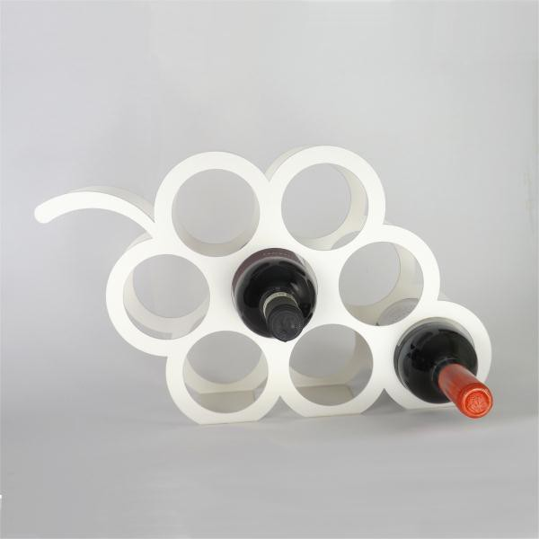 View Infra Engineering Steel Wine Rack(White, Red, Yellow, Blue, Black, 8 Bottles) Furniture (Infra Engineering)