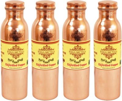 Indian art villa Set of 4 Pure Copper Q7 Joint Free Bottle 4800 ml Bottle