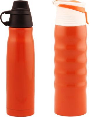 Wa.ter Two orange thermos water bottles 500 ml Bottle