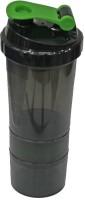 Adraxx Multi-Pupose Sports Sipper 500 ml Shaker, Sipper(Pack of 4, Black)