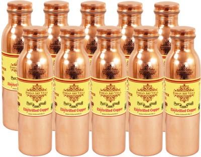 Indian art villa Set of 10 Pure Copper Q7 Joint Free Bottle 12000 ml Bottle