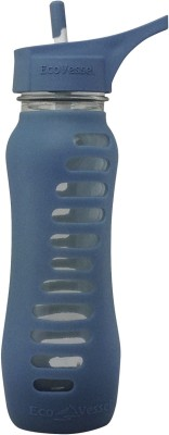 Eco Vessel Surf Sport, Single Wall Glass Bottle with Straw Top - 22 oz - Storm Blue 650 ml Bottle