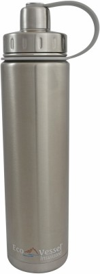 Eco Vessel Boulder Triple Insulated Bottle with Screw Cap - 24 oz - Silver Express 700 ml Bottle