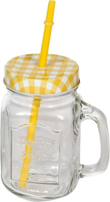 Devnow Country Style Drinking Jar Yellow 474 ml Bottle