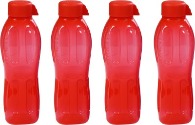 Signoraware Aqua Water 500 ml Bottle(Pack of 4, Red)