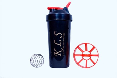 KLS Black Shaker with Steel Ball 600 ml Sipper
