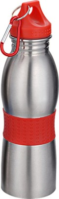 DIZIONARIO Curved 600ml Water Bottle Sipper Flask Red 600 Sipper