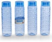 Steelo 1000ml x 4 pcs Premium PET Bottle Set (Solitaire Blue) 1000 ml Bottle(Pack of 4, Blue)