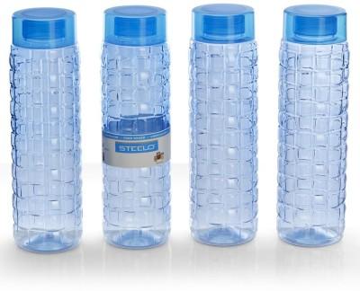 Steelo 1000ml x 4 pcs Premium PET Bottle Set (Solitaire Blue) 1000 ml Bottle