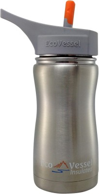 Eco Vessel Frost Kids Insulated Bottle with Straw Top - 13 oz - Silver Express 400 ml Bottle
