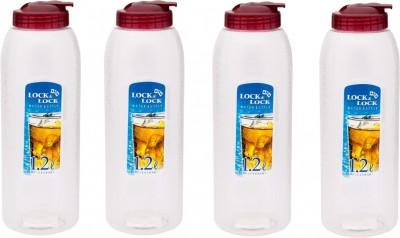 Lock&Lock Red Lid , Set of 4 1.2 L Bottle