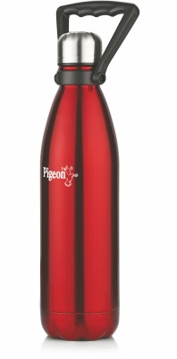 Pigeon PIGEON Stainless steel WATER BOTTLE AQUA (WITH HANDLE)- 750 ML (RED) 750 ml Bottle
