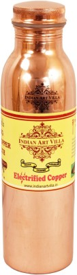 IndianArtVilla Joint free Leak Proof Copper Water 550 ml Bottle(Pack of 1, Brown)