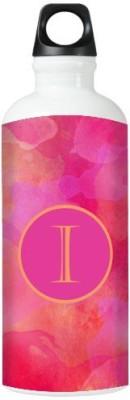 Nutcase Sticker Wrap Design Watercolor - Monogram / Initial Name -I 800 ml Bottle