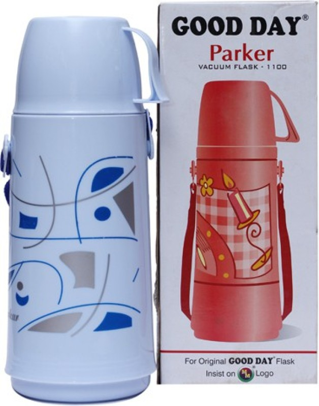 Good Day Parker 1 L Flask(Pack of 1, White)