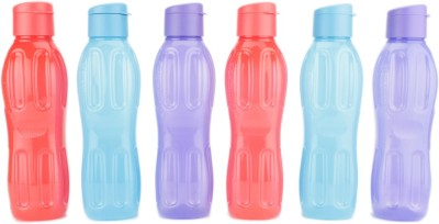 Signoraware FlipTop Aqua 1000 ml Bottle(Pack of 6, Multicolor)