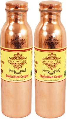 Indian art villa Set of 2 Pure Copper Q7 Joint Free Bottle 2400 ml Bottle