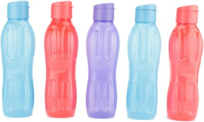 Signoraware FlipTop Aqua 1000 ml Bottle(Pack of 5, Multicolor)