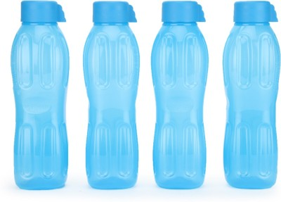 Signoraware Aqua Water 1000 ml Bottle(Pack of 4, Blue)
