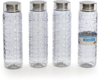 Steelo 1000ml x 4 pcs Premium PET Bottle Set (Solitaire Grey) 1000 ml Bottle