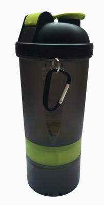UDAK Two Storage Gym Shaker 500 ml Bottle, Shaker, Sipper